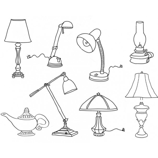Варианты настольных ламп